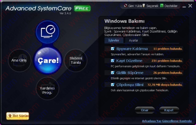 Advanced System Care Sistem Temizleyici ve Hizlandirici 03 640x410 Advanced System Care (Sistem Temizleyici ve Hızlandırıcı)