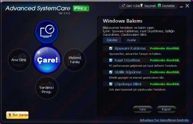Advanced System Care Sistem Temizleyici ve Hizlandirici 04 640x410 Advanced System Care (Sistem Temizleyici ve Hızlandırıcı)