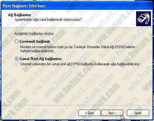 pfsense pptp vpn 04 04 pfSense PPTP vpn bağlantısı #4:Kullanıcı Bağlantısı