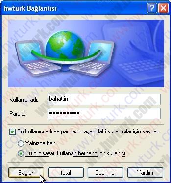 pfsense pptp vpn 04 08 pfSense PPTP vpn bağlantısı #4:Kullanıcı Bağlantısı