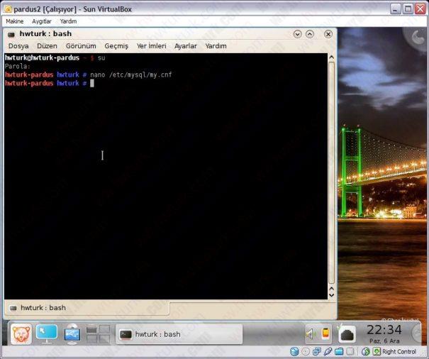 Pardus mysql ayarlari 01 605x506 Pardus MySQL Ayarları