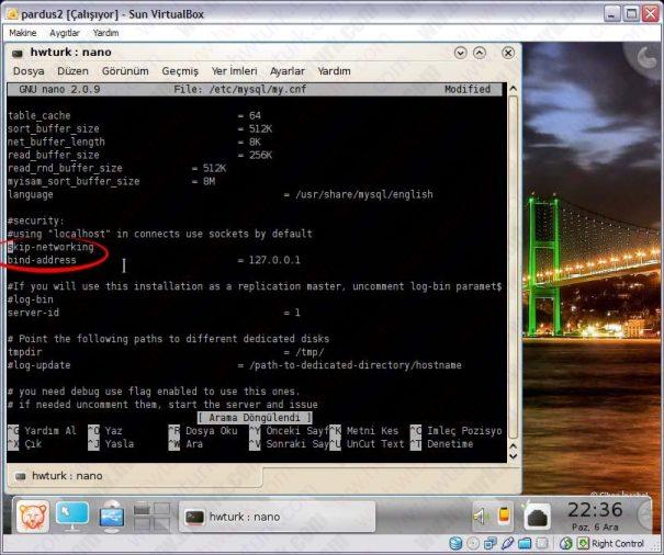 Pardus mysql ayarlari 02 605x506 Pardus MySQL Ayarları