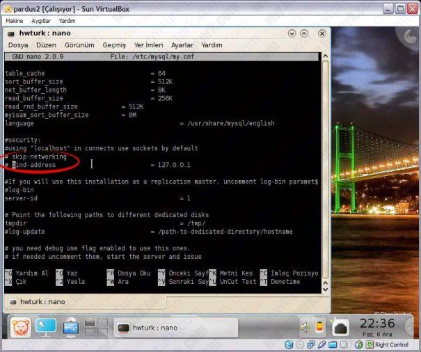 Pardus mysql ayarlari 03 605x506 Pardus MySQL Ayarları