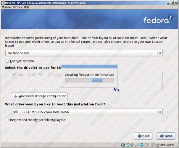 fedora farkli bolume kurulmasi 06 605x499 Fedora 12 Farklı Disk Alanına Kurulması