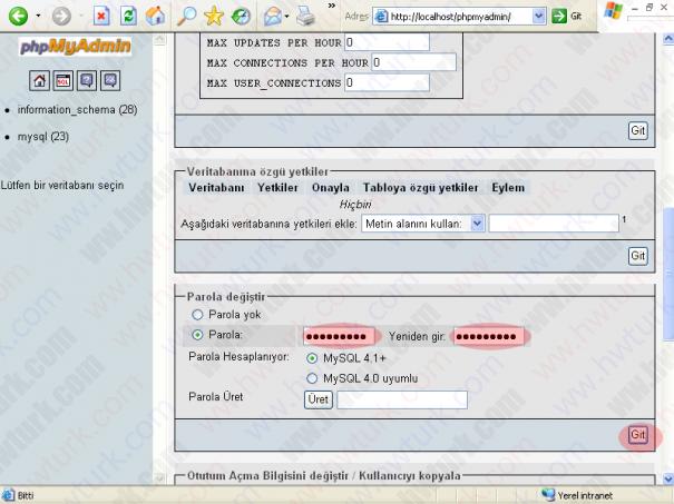 wamp server mysql root sifresini degistirmek 04 605x453 wampServer MySQLe root parolası verilmesi