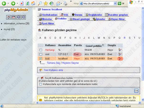 wamp server mysql root sifresini degistirmek 06 605x453 wampServer MySQLe root parolası verilmesi