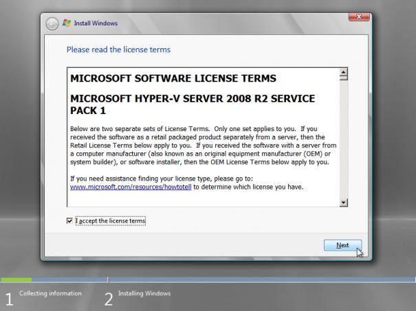 hyper v server 2008 kurulumu 010 605x453 Hyper v Server 2008 R2 Kurulumu