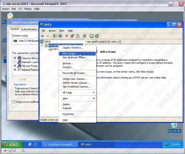windows-server-2003-DHCP-server-kurulumu-03