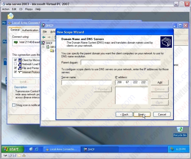 windows-server-2003-DHCP-server-kurulumu-11