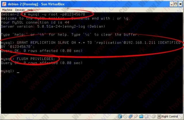 debian mysql master master replication 03 01 640x416 Debian MySQL master master Replikasyon #3: 2.Makine Ayarları
