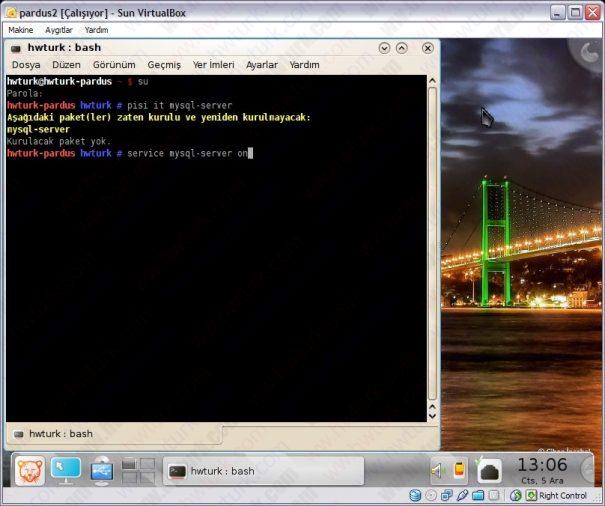 Pardus-mysql-server-kurulum-03