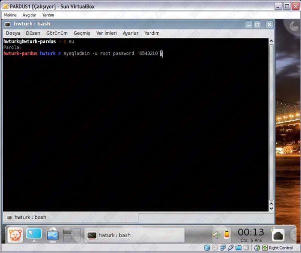 Pardus mysql sifre degistirme 02 605x507 Pardus Mysql Şifre Değiştirme