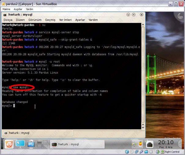 Pardus mysql sifre sifirlama 04 605x506 Pardus Mysql Şifre Sıfırlama