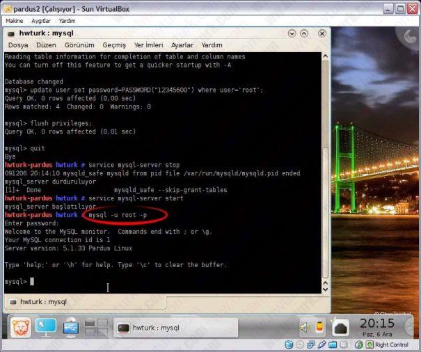 Pardus mysql sifre sifirlama 10 605x506 Pardus Mysql Şifre Sıfırlama