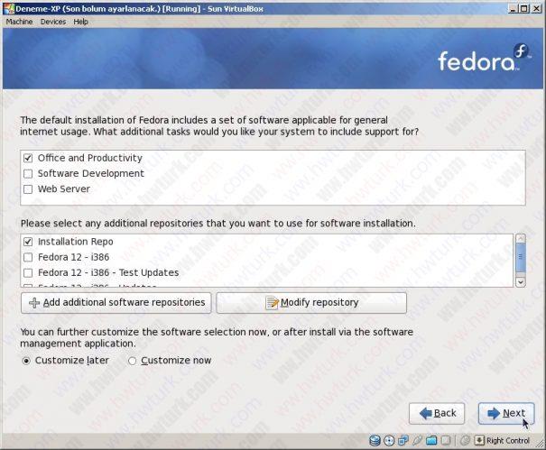 fedora farkli bolume kurulmasi 07 605x499 Fedora 12 Farklı Disk Alanına Kurulması
