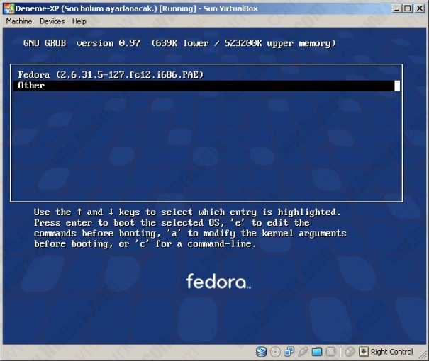 fedora farkli bolume kurulmasi 09 605x510 Fedora 12 Farklı Disk Alanına Kurulması