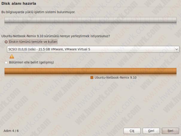 ubuntu 9 10 netbook kurulum 09 605x453 Ubuntu 9.10 Netbook Remix Kurulumu