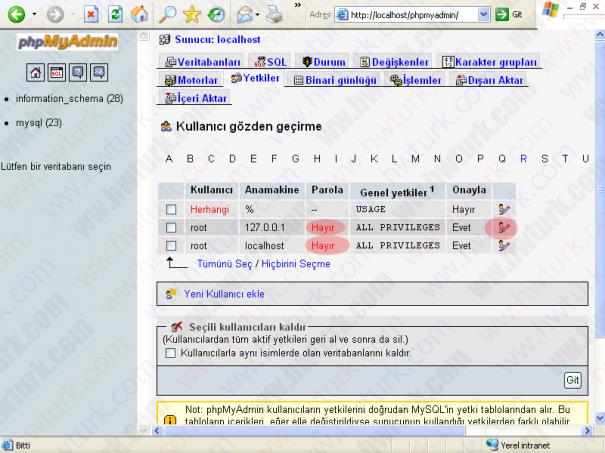 wamp server mysql root sifresini degistirmek 03 605x453 wampServer MySQLe root parolası verilmesi